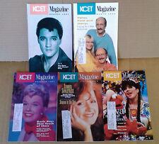 KCET MAGAZINE - PP&M, RONSTADT, ELVIS, DORIS DAY, B. RAITT - (5) ISSUES - 1990'S