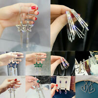 Gorgeous 925 Silver,Gold,Rose Gold Hook Earrings Drop Dangle Women Jewelry Gift