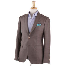 NWT $1475 BOGLIOLI Light Brown Woven Wool Sport Coat Slim 38 R (Eu 48)