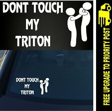 For MITSUBISHI TRITON 4X4 Car ute DECAL Funny Sticker 200mm