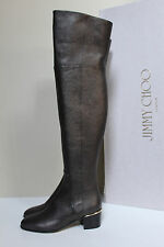 21c680923b4 New sz 8.5   38.5 Jimmy Choo Harmony Metallic Brown Over the Knee Heel Boot  Shoe