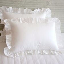 off white ruffle edge lace Standard Quilting cotton pillowcases bed pillow slip