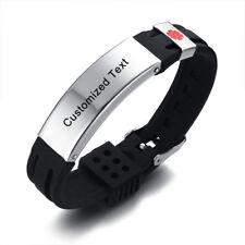 Adjustable Kids Teen Medical Alert ID Aid Bracelet ICE Wristband Free Engraving
