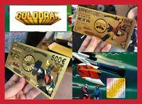 LOT 2 BILLETS TICKET FIGURINE GOLDORAK GRENDIZER ACTARUS CARTE COLLECTOR GOLD OR