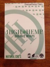 FREE GIFTS IF U BUY High Hemp Herbal 100% Organic Wraps Natural 25Packs 50 Wraps