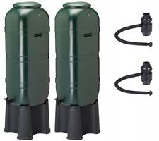 2 x Regentonne Wassertonne Regenfass mit Stand, Füllautomat, Hahn mit 100 Liter