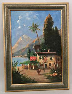 8660047 Tableau Anonyme, Sizilianische Paysage 1.H.20.Jh. 58x42cm