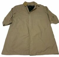 VINTAGE Brooks Brothers MENS Trench Coat Jacket Khaki Tan Removable Liner 30in