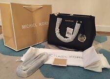 BNWT Michael Kors Medium Black Saffiano Leather Sutton Bag Satchel