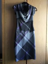 Ted Baker London check pencil knee length dress size 1