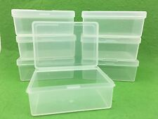 100 x Clear Plastic Storage Containers Boxes with Lids Rectangle Packaging NEW