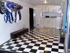 Black & White Checkered Checkerboard FLOORING Continuous Vinyl Roll TRAILER