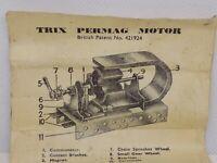TRIX PREMAG ELECTRIC MOTOR 4-8V MANUAL/INSTRUCTIONS. MANUAL ONLY !!!!!!  (NCB)
