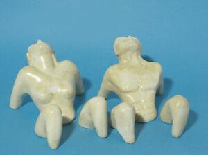 Sculpted Nude Sunbathing Couple
