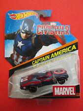 "HOTWHEELS MARVEL 2016 CIVIL WAR ""CAPTAIN AMERICA"" MUSCLE CAR #29 NEW!"