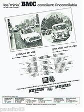 PUBLICITE ADVERTISING 066  1967  Austin & Morris  les Mini BMC