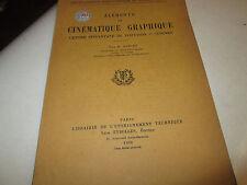 elements de cinematique graphique ...E.DOUCET..1936