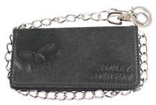 Harley-Davidson Men's Skull Graphite Bi-Fold Tall Leather Wallet UN4602L-GRYBLK