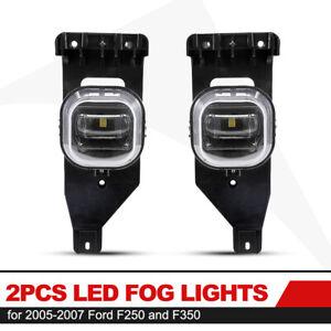 2Pcs LED Fog Lights for Ford F250 F350 2005-2007 Driving Light IP68 Waterproof