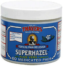 Medicated Superhazel Pads by Thayers, 60 Pads 1 pack