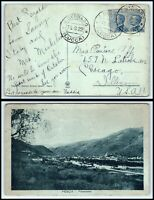 1922 ITALY Postcard - San Gennaro to Chicago, Illinois USA E6