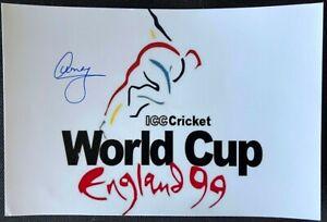India Cricket Legend Amay Khurasiya World Cup 1999 Signed Photo *Rare*