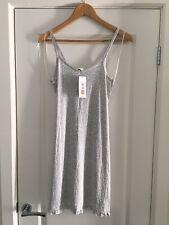 M&S Grey Strappy Nightie Size 10 BNWT