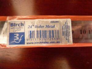 """BIRCH - 24"""" RULER METAL - 020293"""