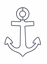 Sadie & Scout Wire Wall Art - Anchor / Blue / Nautical