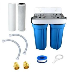 High Flow Inline Twin UnderSink Water Filter System For Mixer Tap
