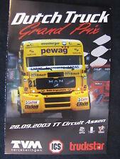 Flyer Dutch Truck Grand Prix 28 september 2003 TT Circuit Assen (TTC)