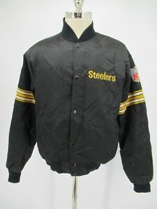L8715 VTG Men's Starter NFL Pittsburgh Steelers Varsity Bomber Jacket Size L