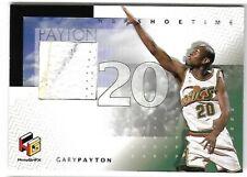 GARY PAYTON 1999 UD HOLOGRFX NBA SHOETIME GAME-WORN SNEAKER SHOE PATCH CARD!