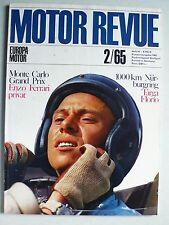 Zeitschrift Motor Revue Heft 54 2/1965 mit Enzo Ferrari, BMW 1800 TI, R8 Gordini