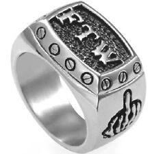 Stainless Steel FTW Biker Ring Size 7 8 9 10 11 12 13 14 15 Rebel School Class
