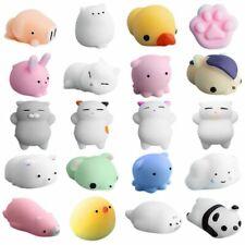 20pcs Mini Squeeze Toy Squishy Mochi Soft Release Stress Toys KAWAII Animal W2x6