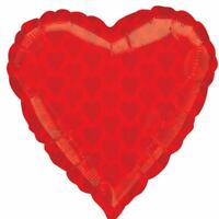 """22"""" Casino Night Party Card Suit Red Heart Jr Hearts Foil Shape Balloon"""