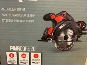 skil pwr core 20-volt 6-1/2-in cordless circular saw 1-battery and charger