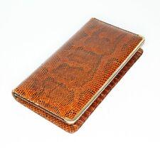 Vintage Python Snakeskin Clutch Shoulder Purse Handbag Gold Metal Hardware