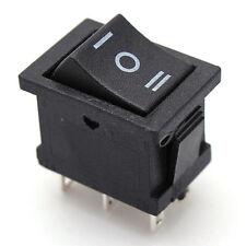 2PCS (On)Off(On)  Black 3Position Snap in Rocker Switch 6-Pin DPDT 12V UK