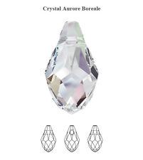 2 X Genuine SWAROVSKI 6007 Small Briolette Pendant Crystal AB 9x5mm
