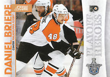 10/11 SCORE PLAYOFF HEROES STANLEY CUP #12 DANIEL BRIERE FLYERS *9016