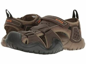 Man's Sandals Crocs Swiftwater Leather Fisherman