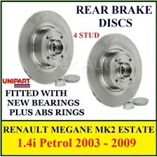 to fit RENAULT MEGANE MK2 ESTATE Rear Brake Discs 1.4i Petrol 2003 - 2009
