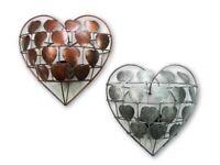 Love Heart Tealight Candle Holder Wall Art Sconce - Bronze & Silver Assorted