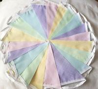 Pastel Dotty Rainbow Unicorn Theme 30 FT 9M Fabric Bunting Bundle Multi Summer