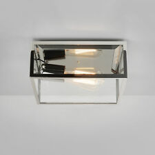 Astro Bronte Ceiling Light 1 x 60w Polished Nickel IP23 Dimmable