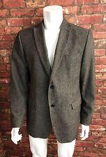 7 Quadrati Da Uomo Blazer Giacca 46 in (ca. 116.84 cm) Misto Lana Tweed con colletto e scollatura regolare