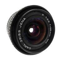 Carl Zeiss Jena 28mm F2.8 Lens Praktica PB Mount - Fully Working #LS-2066