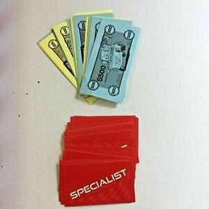 Operation Game Disney Pixar Cars 2 - lot of Game Cards & Money